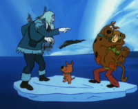 Ghost of Jeremiah Pratt with Shag, Scoob and Srappy