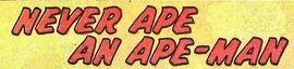 Never Ape an Ape-Man (GK) title card