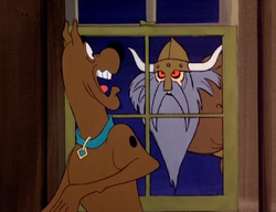 Scoob sees Viking leader out window