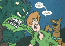 Shag and Scoob run into Cromchutek