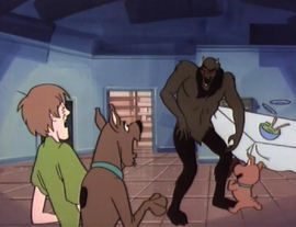 Shadow Creature attacks Shag, Scoob and Scrappy