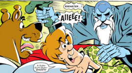Shag and Scoob visited by the Ghost of Christmas Past