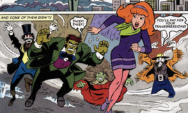 Daphne chased by Land-Grabbing Ghosts