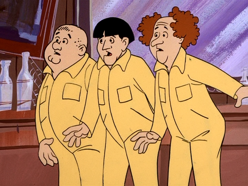 Image result for Three Stooges (Animated)