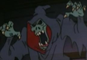 Hooded skeletal ghost (Zombie Island)