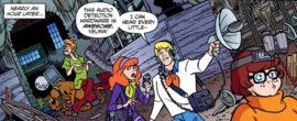 Mystery Inc. with ghost hunting gear