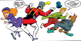 Shag, Scoob and Daphne attacked by Nutcracker Ghost