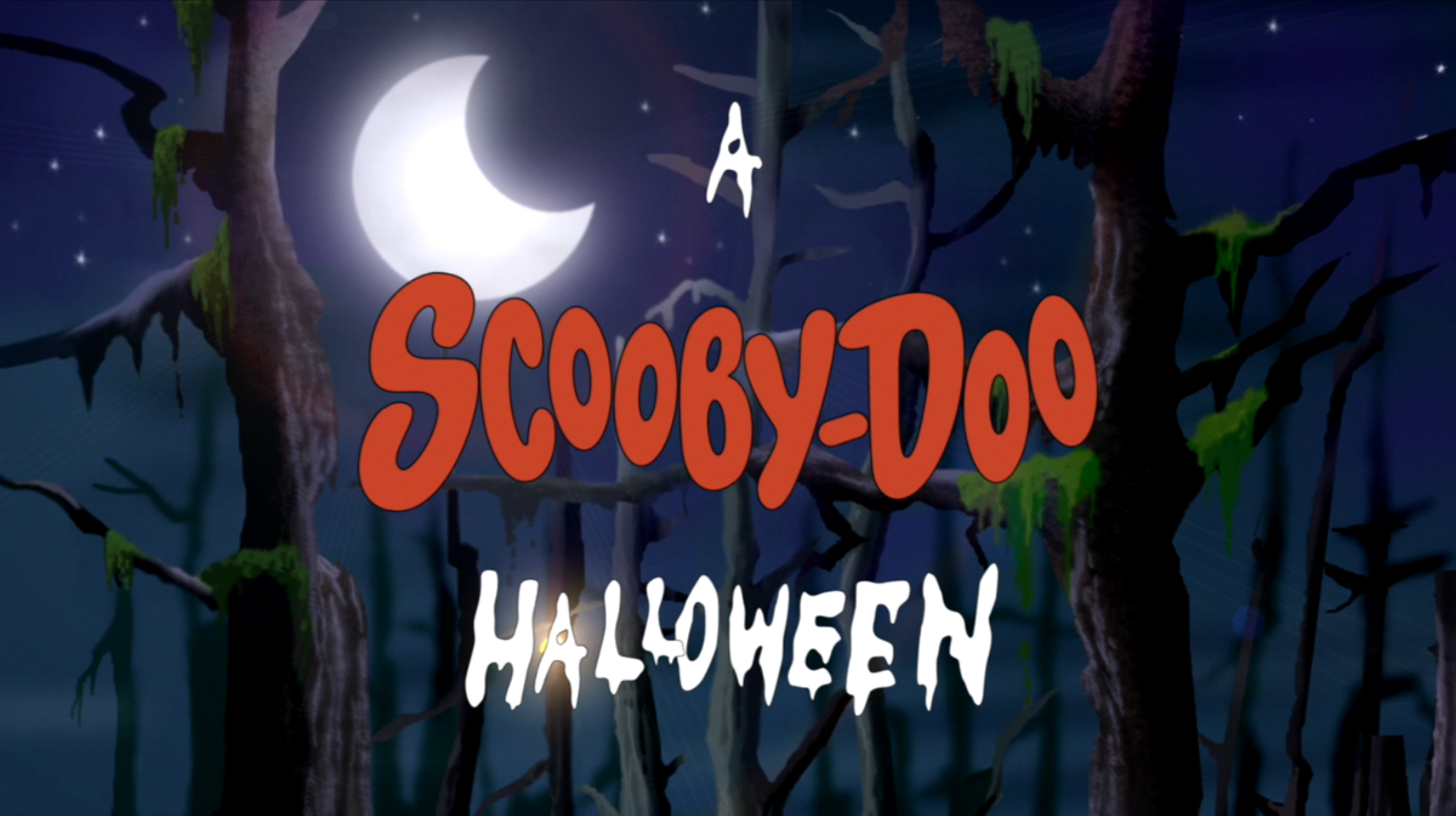 a scooby doo halloween title cardpng