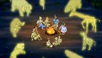 Demons surround gang at HGP campfire