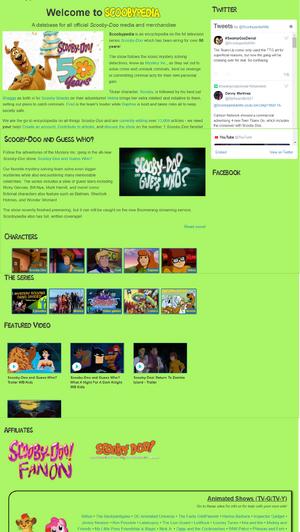 Scooby-Doo Mainpage Draft 2