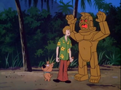 A Lava Monster behind Shaggy