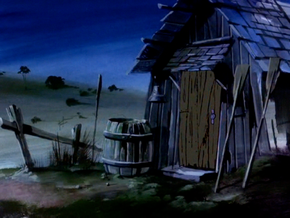 Beach hermit's shack