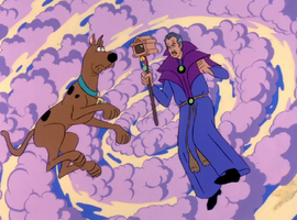 Van Ghoul takes Scoob on time travel