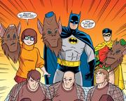 Robbers unmasked (Man Bat and Robbin')