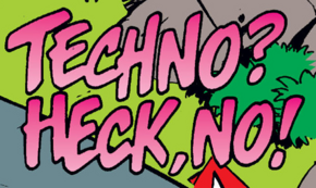 Techno? Heck, No! title card