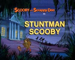 Stuntman Scooby title card