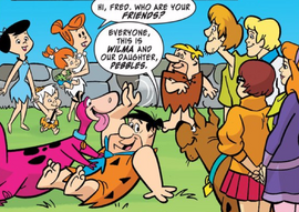 Gang meets the Flintstones