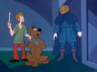 Shag and Scoob run into the Headless Horseman