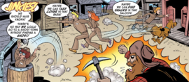 MI run away from ghost miner