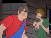 An angry Bubba and a terrified Shaggy