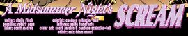 A Midsummer Night's Scream title card