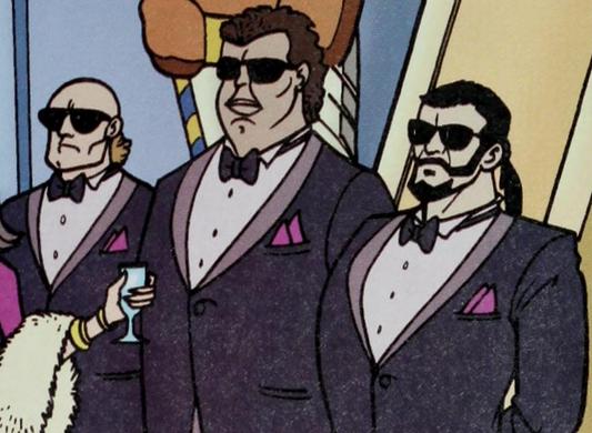 Iona Bunch's bodyguards