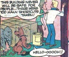 Scooby finds Ghost of Joe Glutz