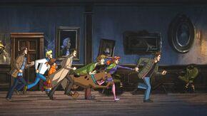 Scoobynatural chase scene