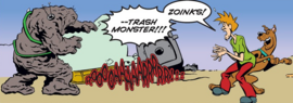 Shag and Scoob find Trash Monster