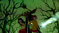 Baba Yaga chases Velma and HDW