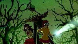 Baba Yaga chases Velma and HDW