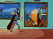 Catfish Burglar walks by disguised trio