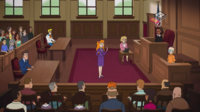 Daph questions Velma on the stand