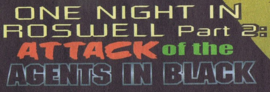 Attack of the Agents in Black title card