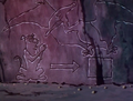 Cave drawing of Pterodactyl Ghost trapping Scoob.png