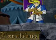 Fred pulling on Excalibur