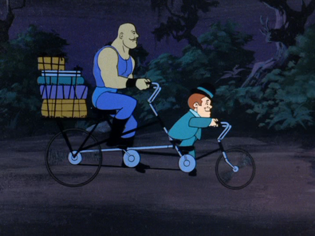 File:Max the Midget and Samson the Strongman's tandem bicycle.png