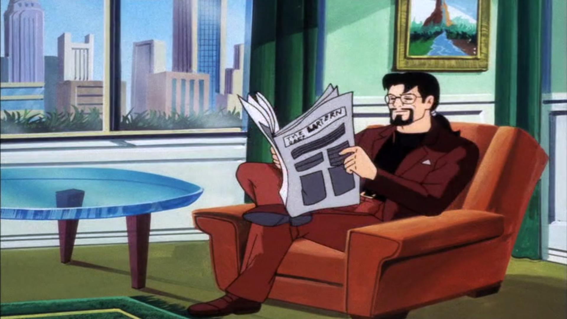 An innocent-looking Ben Ravencroft, reading a newspaper.