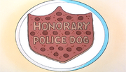 Honoray Police Dog pizza