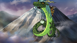 Green Dragon flies off