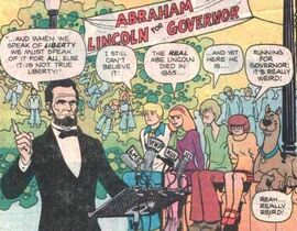 Abe Lincoln in governor campaign speech