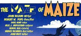 Maze of Maize title card