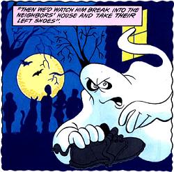 Left-shoe stealing ghost