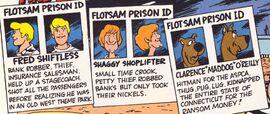 Gang's rap sheets for Flotsam Prison