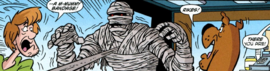Mummy of King Tookoolforskool finds Shag and Scoob
