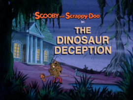 The Dinosaur Deception title card