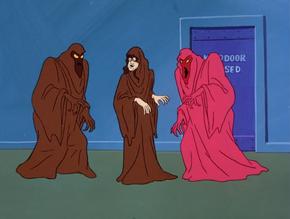Shaggy disguised as the Chocolate Technicolor Phantom
