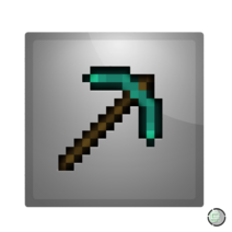 Minecraft pickaxe icon by coopad-d3e28ps