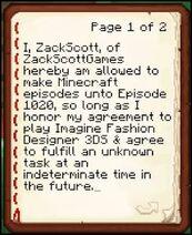 Minecraft contract