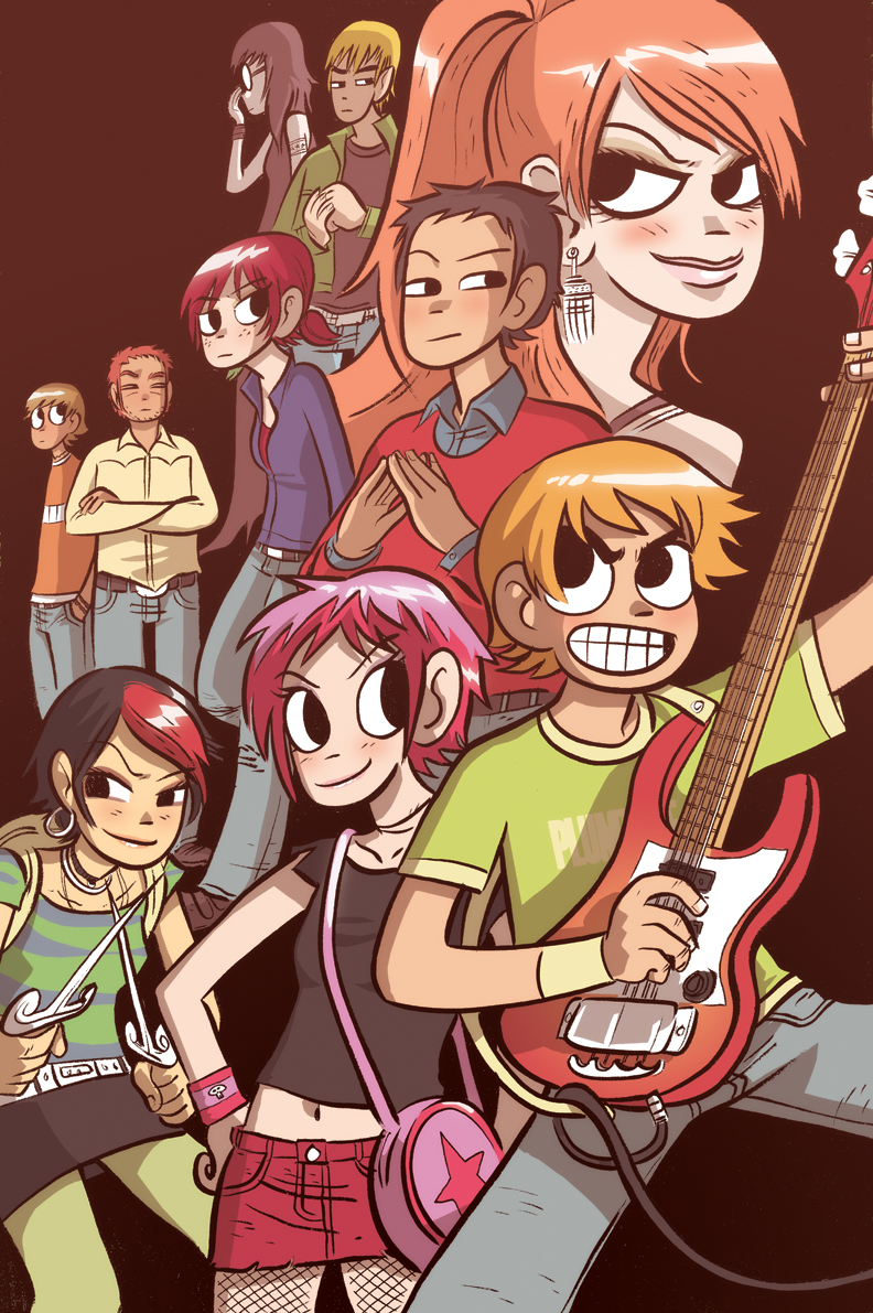 vol 3 pre release poster without textjpg - Scott Pilgrim Books In Color